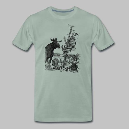 Älgjägarna - Premium-T-shirt herr