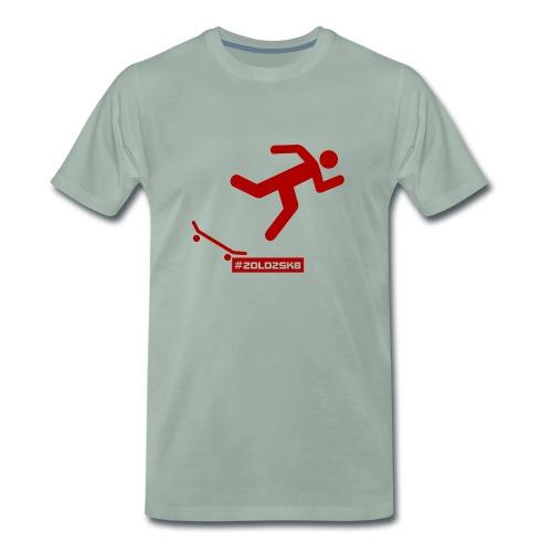 Falling Skateboarder red - Men's Premium T-Shirt