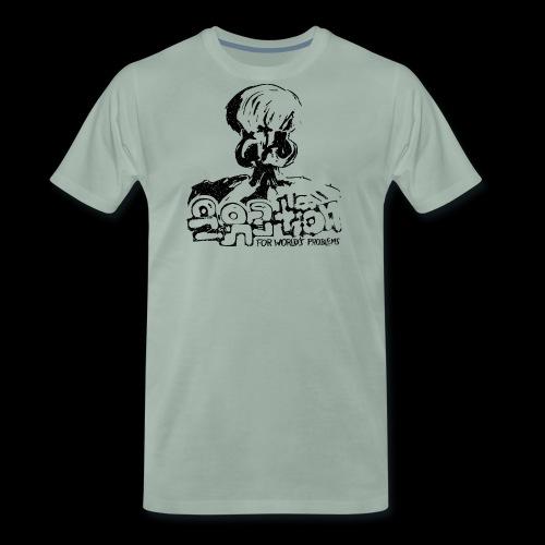 Nie Rozwiązanie (czarny oldstyle) - Koszulka męska Premium