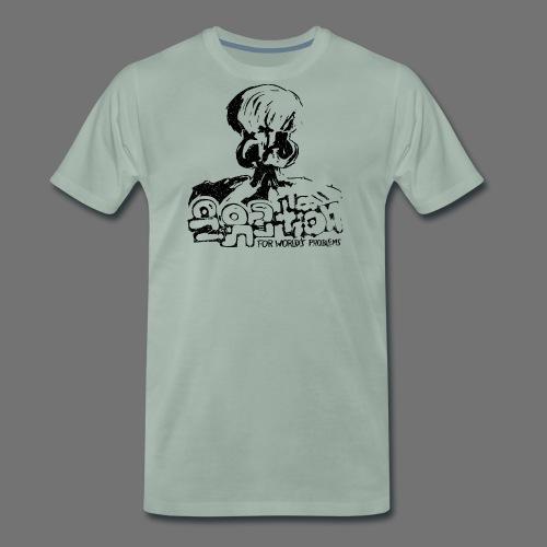 Ingen Solution (sort oldstyle) - Herre premium T-shirt