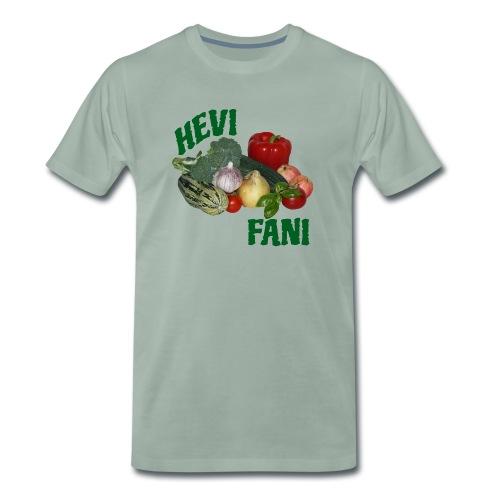 Hevi-fani - Miesten premium t-paita