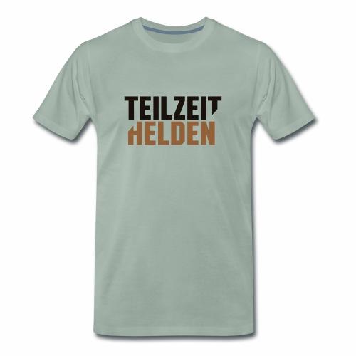 Teilzeithelden_Schriftunt - Männer Premium T-Shirt