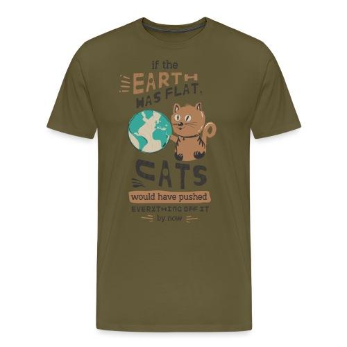 IF THE EARTH WAS FLAT - Premium T-skjorte for menn