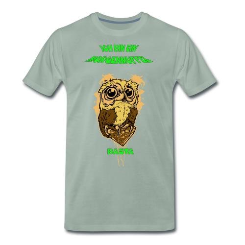 Eulenmotiv für Morgenmuffel - Männer Premium T-Shirt
