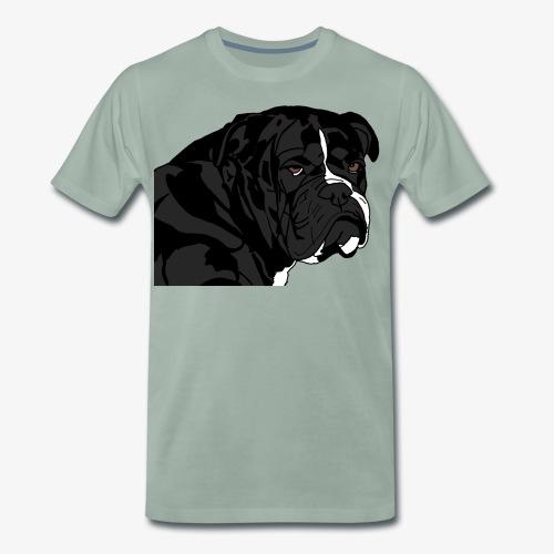 bulldog noir - T-shirt Premium Homme