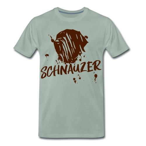 Riesenschnauzer / Schnauzer Comic Design Geschenk - Männer Premium T-Shirt