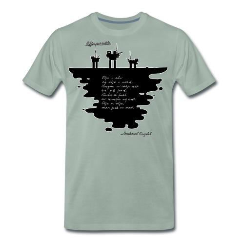 Oljepoesi - Premium T-skjorte for menn