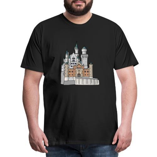 Schloss Neuschwanstein c - Männer Premium T-Shirt