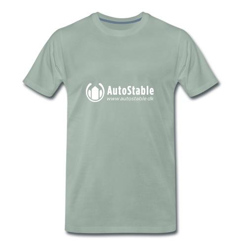 Vit_utan_bakgrund_vector_autostable_danmark - Premium-T-shirt herr