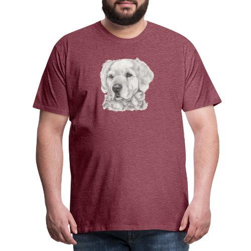 golden retriever - Herre premium T-shirt