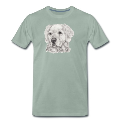 golden retriever - Herre premium T-shirt