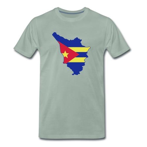 logotoscana3 colori - Maglietta Premium da uomo