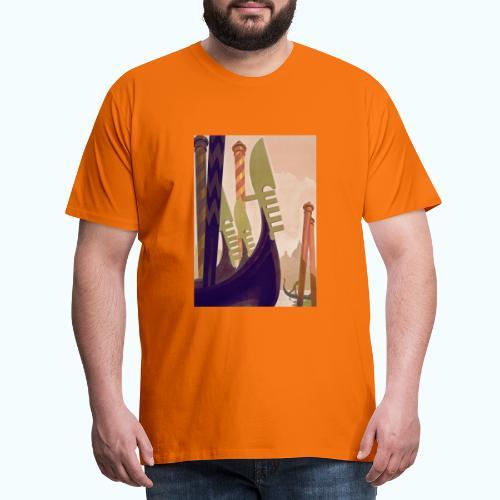 Venice vintage travel poster - Men's Premium T-Shirt