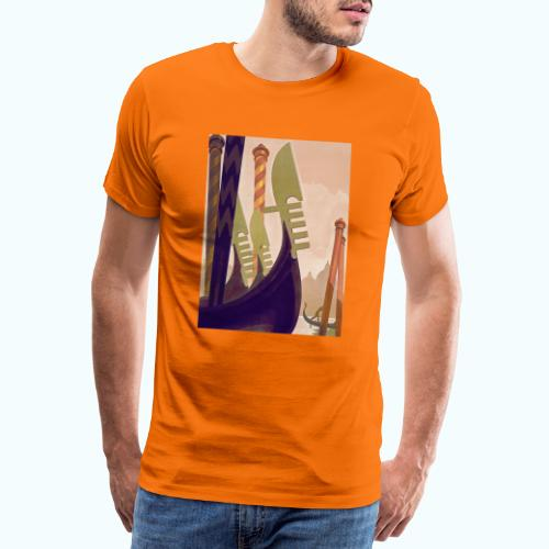 Venice vintage travel poster - Men's Premium T-Shirt