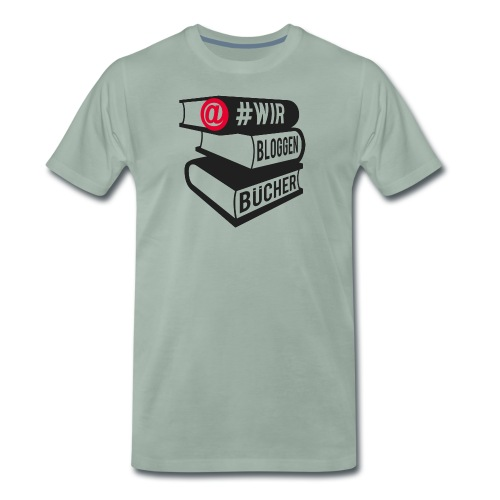 #wirbloggenbücher Logo - Männer Premium T-Shirt