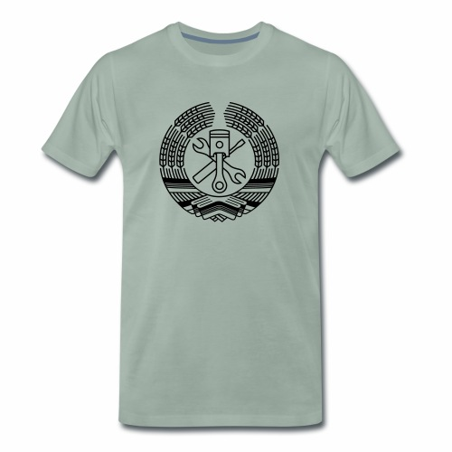 DDR Tuning Coat of Arms 1c (+ Your Text) - Men's Premium T-Shirt