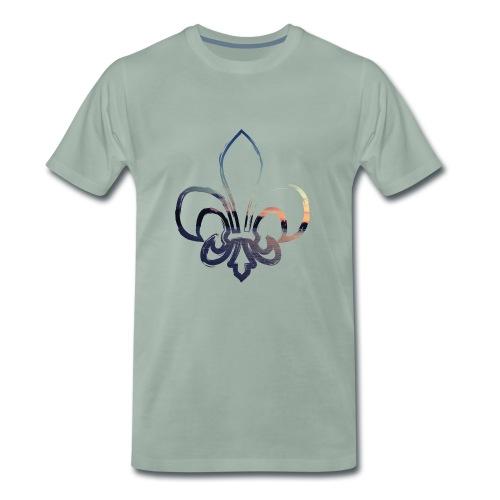 Lilie mit Sonnenuntergang - Männer Premium T-Shirt