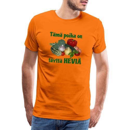 Poika täyttä heviä - Miesten premium t-paita