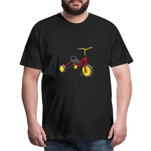 Rot-gelbes Kinderdreirad - Männer Premium T-Shirt