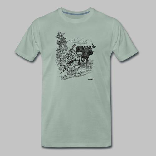 Älgpasset - Premium-T-shirt herr