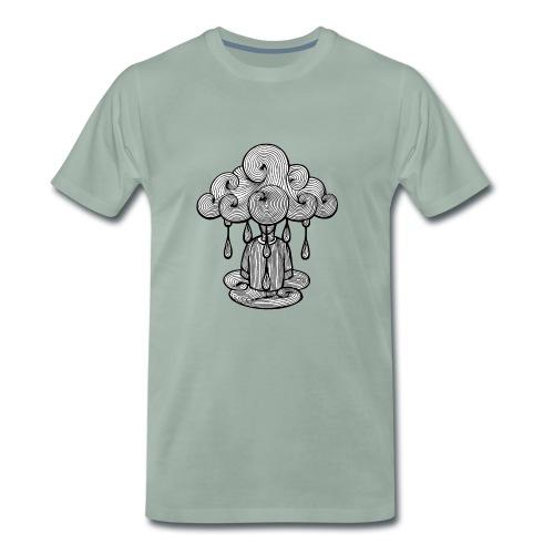 nuage lundi pluie, le lundi c'est nul... - T-shirt Premium Homme