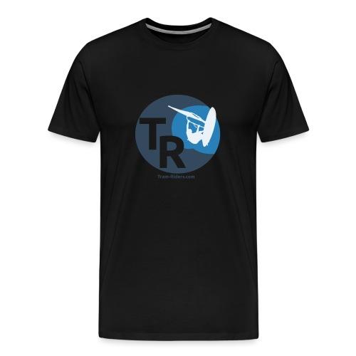 Logo flat design tramride - T-shirt Premium Homme