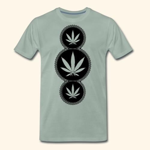 WEED SHIRT Cannabis Hanfblatt 420 Tag Geschenk - Men's Premium T-Shirt