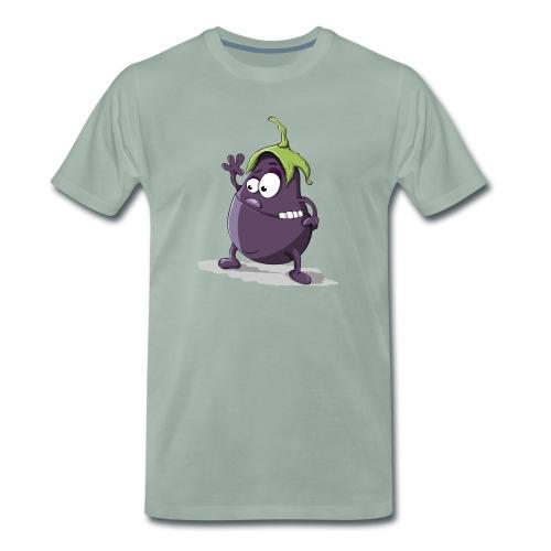 Aubergine - Comic - Oberschiene - Hey - Männer Premium T-Shirt