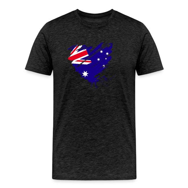 Australien Sydney Kontinent Grunge Herz Flagge