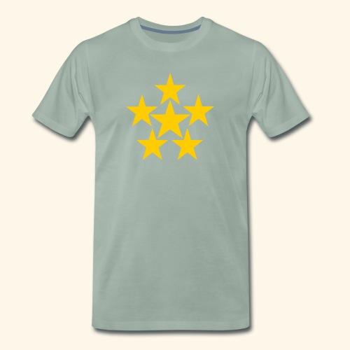 5 STERN gelb - Männer Premium T-Shirt