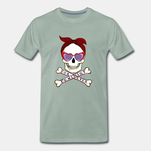 Feminist skull - Camiseta premium hombre