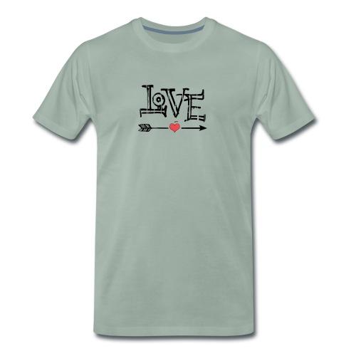 Love flêche - T-shirt Premium Homme