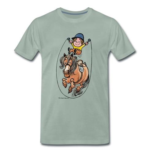 Thelwell Reiter Und Pony Machen Seilspringen - Männer Premium T-Shirt