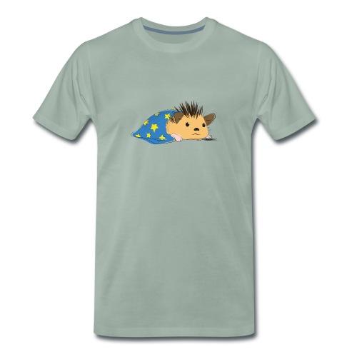 Porcospino che riposa nella copertina (colorato) - Maglietta Premium da uomo