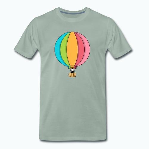 Zebra Zach Air Balloon - Premium-T-shirt herr