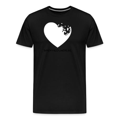 Cuore Appaloosa (bianco/rosso) - Maglietta Premium da uomo