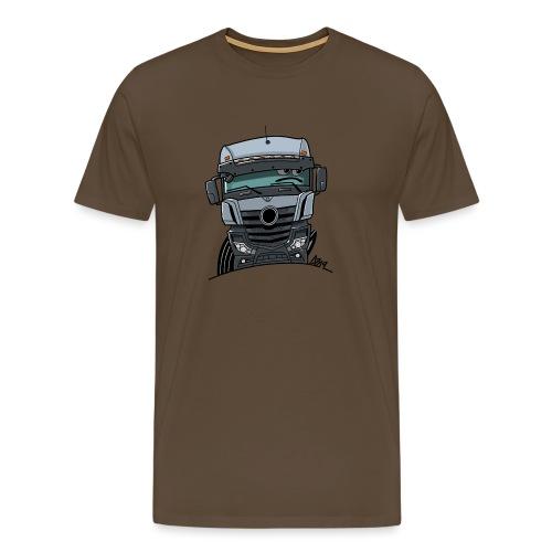 0807 M Truck grijs - Mannen Premium T-shirt