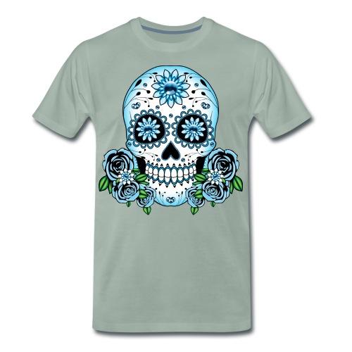 Blue Sugar Skull - Men's Premium T-Shirt