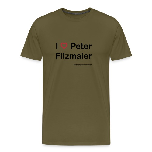 I love Peter Filzmaier - Männer Premium T-Shirt