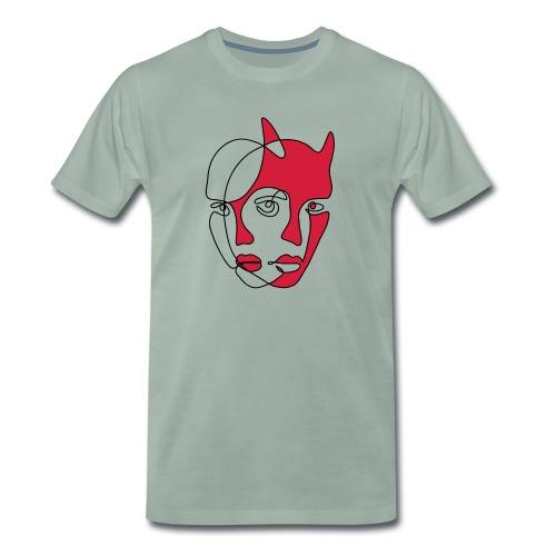 Två ansikten - Premium-T-shirt herr