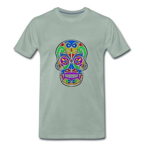 Abstract colorful skull - Maglietta Premium da uomo
