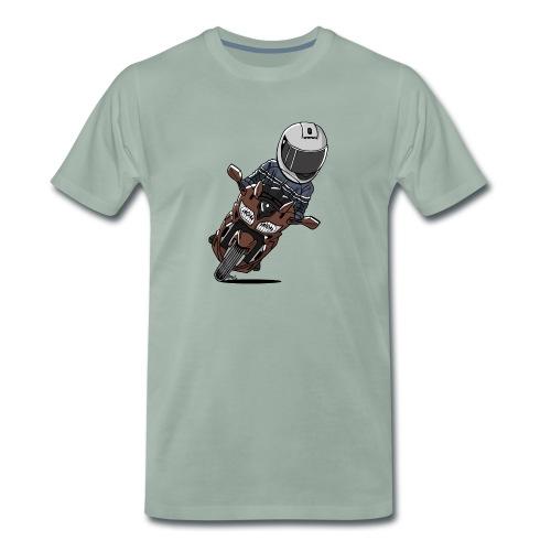 0790 FJR1300 Magnetic Bronze - Mannen Premium T-shirt