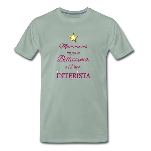frase bimba interista - Maglietta Premium da uomo