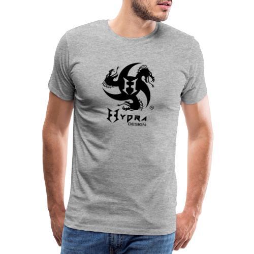 Hydra DESIGN - logo blk - Maglietta Premium da uomo