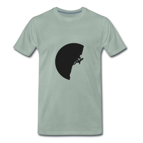 Klettrerin in schwarz - Männer Premium T-Shirt