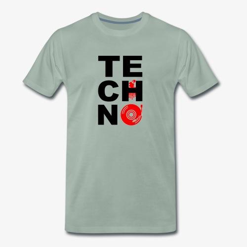 TECHNO VINILO - Camiseta premium hombre