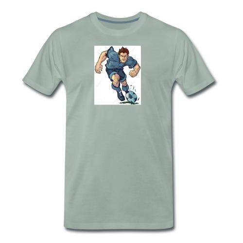 41982995-Vector-de-dibujos-animados-ilustraci-n-de - Camiseta premium hombre