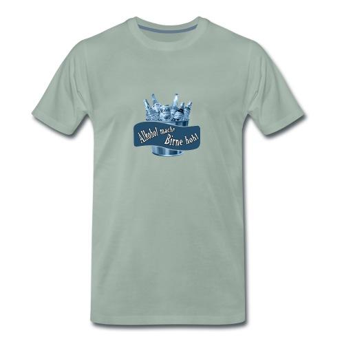 Alkohol macht Birne hohl - Männer Premium T-Shirt
