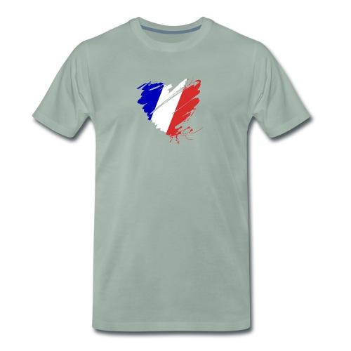 Herz Cœur France Frankreich Grande Nation Rotwein - Men's Premium T-Shirt