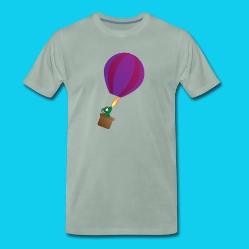 Lohikäärme kuumailmapallossa - Miesten premium t-paita